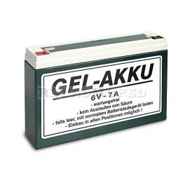 Akku Gel Batterie 6V 7Ah