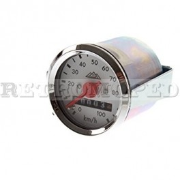 Tachometer 100 km/h Ø 48 chrom